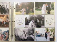 Project Life southern wedding album photos