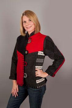 Long Mandarin Jacket — Baabaazuzu Upcycled Wool Clothing
