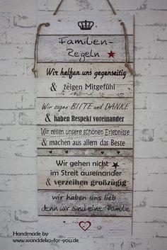Familien Regeln