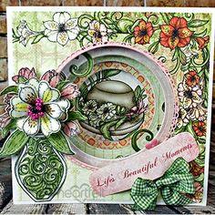 Layered Lilies card from Heartfelt Creations. #heartfeltcreations #lily #thinkingofyou #sympathycard