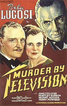 1935:  June Collyer, George Meeker and Bela Lugosi in 'Murder By Television