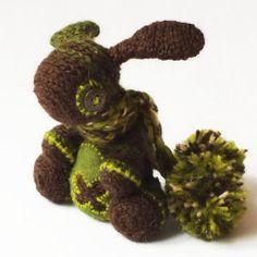 Forest Bobble Bunny OOAK Crochet Bunny by Dropici | eBay