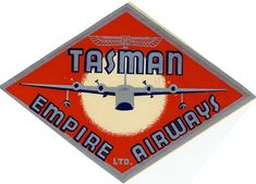 Artist Unknown poster: Tasman Empire Airways Limited (luggage label)