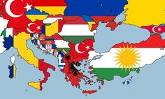 This Map Shows The Second Largest Nationalities in Every European Country
