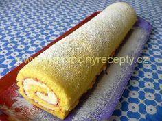 Roláda stáčená za studena Hot Dog Buns, Hot Dogs, Food And Drink, Bread, Cake, Sweet, Ethnic Recipes, Hampers, Pineapple