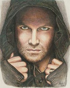 Stephen Amell / Arrow Print of Drawing by CJepsenFineArt on Etsy