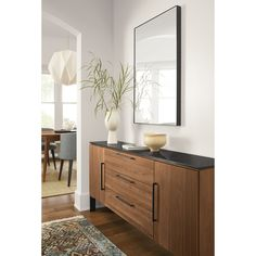 Thoughtful, refined design details and a mix of solid wood and steel make our Kenwood console cabinet a sophisticated addition to your home. Dining Room Sideboard, Dining Room Storage, Console Cabinet, Dining Room Design, Dining Room Table, Narrow Sideboard, Room And Board Furniture, Living Room Furniture, Modern Furniture