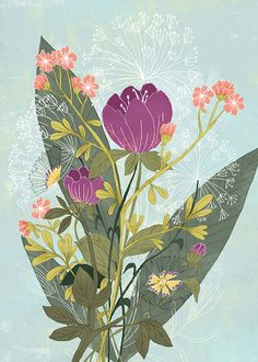Nature design drawing colour 35 Ideas for 2019 Art And Illustration, Floral Illustrations, Illustrations Posters, Art Floral, Art Design, Book Design, Cover Design, Graphic Design, Kirigami