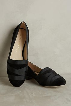 Bettye Muller Reed Velvet Loafers