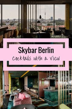 travel destinations unique At the Skybar in Berlin not only were the views breathtaking, but the cocktails were fun, creative and absolutely delicious! Some real classics and some unique innovations all served with a little twist of Berlin Tour Berlin, Berlin City, Berlin Berlin, Berlin Food, Berlin Travel, Germany Travel, Gratis In Berlin, Travel Guides, Travel Tips