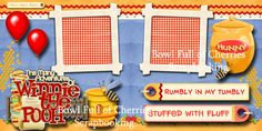 Disney Winnie The Pooh 2 premade scrapbook pages layout paper piecing By Cherry Scrapbook Page Layouts, Scrapbook Pages, Disney Scrapbook, Disney Winnie The Pooh, Paper Piecing, Digital Scrapbooking, Cherry, Prints, Ebay