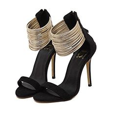 Stiletto Heel Straps Wraps Simple Styles In High-Heels Prom Sandals Open Toe Shoes, Open Toe Sandals, Ankle Strap Sandals, Strap Heels, Shoes Sandals, Heeled Sandals, High Heels For Prom, Prom Heels, Stiletto Shoes