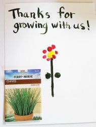 """Simple, healthy end of the year #teachergift """"Thanks for helping us(me) grow!"""""""