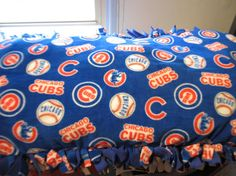 Chicago Cubs Dog Bed by SCCDogApparel on Etsy, $49.99