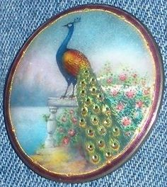 Vintage Sterling and Enamel Peacock Brooch, Aksel Holmsen, Norway • http://cgi.ebay.com/ws/eBayISAPI.dll?ViewItem=400286850844=ADME:B:SS:US:1123#ht_872wt_99
