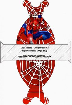 Spiderman: Free Printable Boxes.