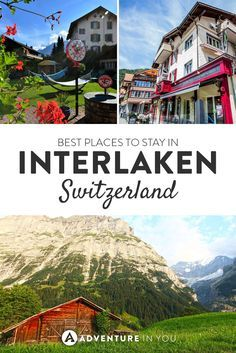 Here is a list of our personal recommendations on the best places to stay in Interlaken. From budget hostels to luxury hotels, Interlaken is full of. Switzerland Itinerary, Switzerland Cities, Switzerland Vacation, Switzerland Interlaken, European Destination, European Travel, Zermatt, Europe Travel Guide, Travel Destinations