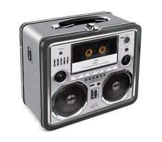 Back to School: Lunch Bags & Boxes, Boom Box Tin Lunch Box
