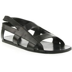 Black Leather Cross Strap Sandals, by Raf Simons, Men's Spring Summer Fashion. Next Ladies Fashion, Mens Fashion, Strap Sandals, Men Sandals, Raf Simons, Hobby Room, Hobby Lobby, Men Looks, Designer Wear