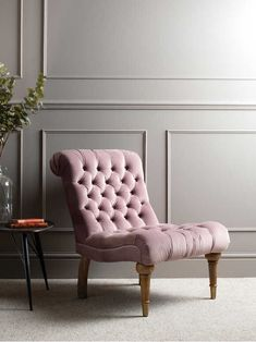 A perfect addition to a living room, bedroom, home office or hallway, this soft pink occasional chair is elegant and charming, adding a vintage character to your home. Hallway Chairs, Living Room Chairs, Living Room Decor, Bedroom Decor, Decorating Bedrooms, Decorating Ideas, Dining Room, Dining Table, Decor Ideas