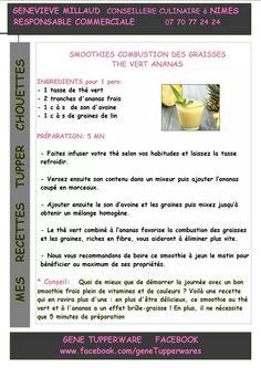 Tupperware - Smoothie thé vert ananas