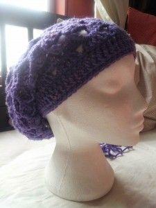 purple shell beanie