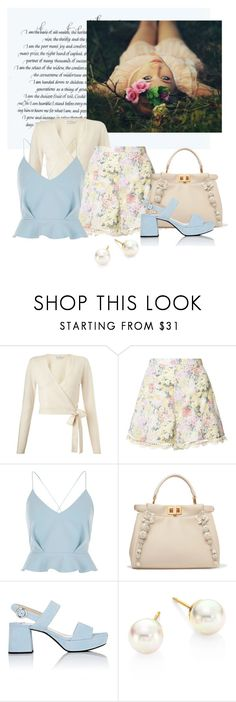 """spring dream"" by art-gives-me-life ❤ liked on Polyvore featuring Miss Selfridge, Zimmermann, River Island, Fendi, Prada, Majorica, contestentry and colorqueens"