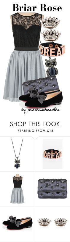 """""""Briar Rose"""" by princesschandler ❤ liked on Polyvore featuring Wallis, BCBGeneration, Benedetta Bruzziches, Christian Louboutin, Juicy Couture, disney, sleepingbeauty, disneybound and BriarRose"""