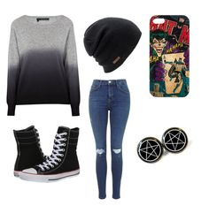 """""""Just that casual"""" by killingthestolensun on Polyvore featuring 360 Sweater, Converse and Coal"""