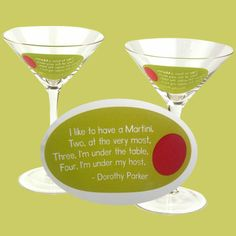 Dorothy Parker, brilliant wit and sarcastic realist.  I love her.