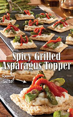Spicy grilled asparagus topper recipe recipes to cook spicy grilled asparagus topper ready in 15 minutes only 80 calories per serving ccuart Image collections