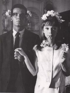 Audrey Hepburn and James Garner, 1961.