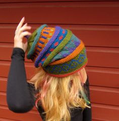Colorwork Inspiration (no pattern) via A Stylish Little Lady: mountain girl clothing