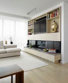 Scandanavian Modern Condominium - contemporary - living room - toronto - by Jill Greaves Design
