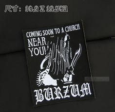 Dark Heavy Metal Patch Gothic music Metal back patch Punk patches iron on monogram iron on patches