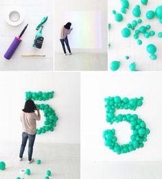 Números y globos