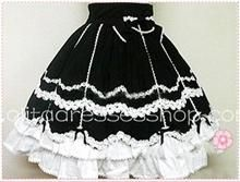 Lovely White Lace Black Gorgeous royal princess Lolit Skirt $59