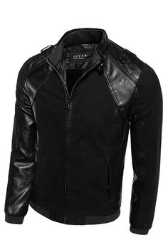 Delicious Mens Spring Autumn Pu Imitation Leather Jacket Mens Slim Solid Color Stand Collar Business Casual Motorcycle Leather Jacket Agreeable Sweetness Jackets & Coats Back To Search Resultsmen's Clothing