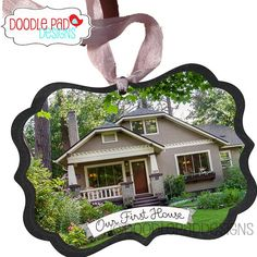 Know someone who just got their first house this year? Get them one of these for their tree! Our First House Photo Ornament Personalized by doodlepaddesigns, $14.95