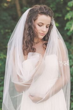 OLIVIA | Tulle Wedding Veil | long wedding veil | long tulle veil | bridal tulle veil |