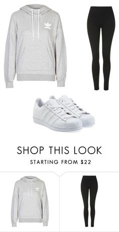 """Untitled #4493"" by clarry-sinclair ❤ liked on Polyvore featuring adidas, Topshop and adidas Originals"