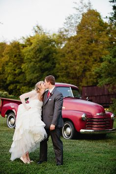 Rustic Red   White Barn Wedding
