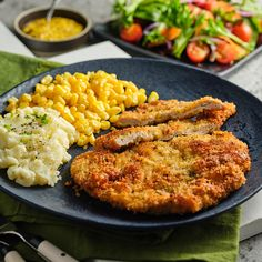 Rather than waiting an entire year to get my fill of pork schnitzel, I like to make this easy-to-prepare dish at home. The key to the perfect schnitzel recipe is the thickness of the pork chop – you want it no thicker than ¼-inch. I also like to use panko breadcrumbs vs. traditional breadcrumbs for a crispier breading. Oh and don't forget the sauerkraut – it's a MUST! Ahh Fall - it's honestly my favourite time of year! Hearing the crunchy leaves... Balsamic Pork Chops, Apple Pork Chops, Schnitzel Recipes, Pork Schnitzel, Pork Chops And Sauerkraut, Best Pork Recipe, Breaded Pork Chops, Grilled Pork, Pork Chop Recipes