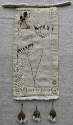 gentlework: Nature Cure - Another Gentlework Workshop - Cow parsley embroidery