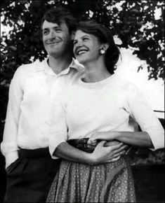sylvia plath and ted hughes -- they look so happy....before he impregnated another woman and she committed suicide.