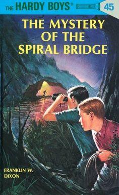 Hardy Boys 45: The Mystery of the Spiral Bridge (The Hardy Boys) by Franklin W. Dixon, http://www.amazon.com/dp/B002C7Z4XM/ref=cm_sw_r_pi_dp_IxH5ub0N7JKKD