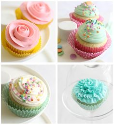 Sprinkle Bakes: Easy Piping Techniques for Cupcakes. Swiss Meringue Buttercream Frosting and American Buttecream Frosting recipes.