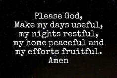 My favorite prayer
