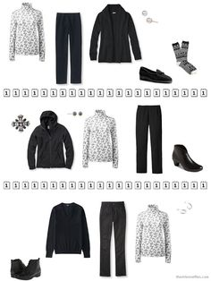 three ways to wear a black and white floral cotton turtleneck