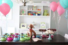 puppy adoption birthday party ideas   cute layout   Adopt a Pet Birthday Party Ideas